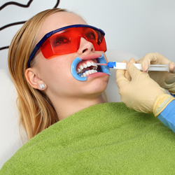 Lady getting dental procedure