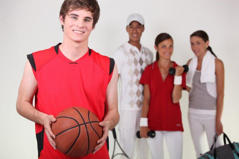 student athlete wearing orthodontic treatment